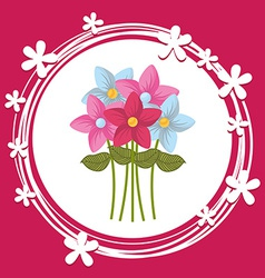 Bouquet flower vector