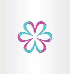 3d flower symbol design vector