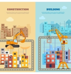 Construction and building banner set vector