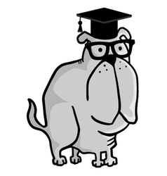 Teacher dog vector