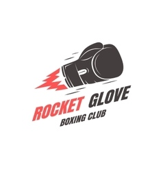 Boxing club emblem vector image