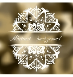 Abstract khaki background with pattern vector image vector image