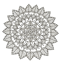 Beautiful floral mandala vector