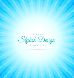 beautiful sky blue sunburst background vector image