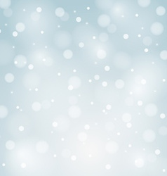 Blue christmas background with white snowflakes vector