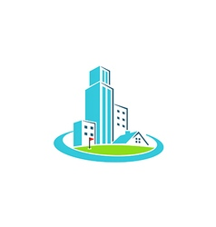 Building cityscape construction realty logo vector