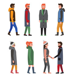 Citizens collection of icons vector