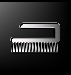 Cleaning brush hygiene tool sign gray 3d vector