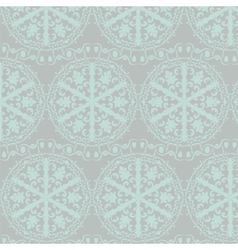 Crochet lace round ornament pattern vector