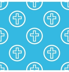 Cross sign blue pattern vector image