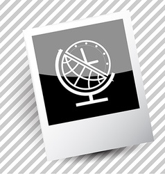 Globe and clock vector
