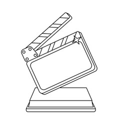 gold clapperboard on standaward for best director vector image