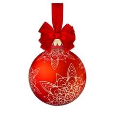 Golden Christmas ball EPS 10 vector image vector image