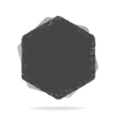 Grunge hexagon shape dirty texture vector
