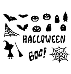 Halloween clipart Black vector image