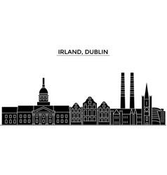 Irland dublin architecture city skyline vector