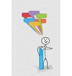 many speak bubbles feedback person vector image vector image