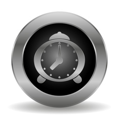 Metal alarm clock button vector image vector image