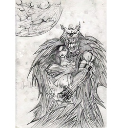 Monster doodle vector image