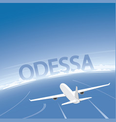 Odessa skyline flight destination vector