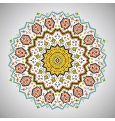 Ornamental round colorful pattern in aztec style vector image vector image