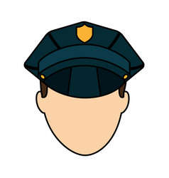 police officer avatar icon vector image vector image