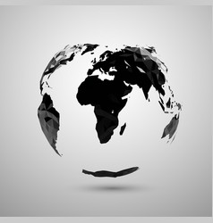 polygonal earth silhouette vector image
