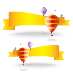 Ribbons with balloons vector