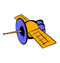 Satellite communications icon icon cartoon vector