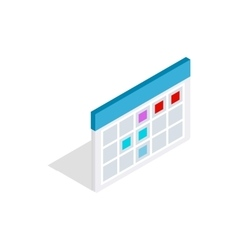 Schedule icon in isometric 3d style vector