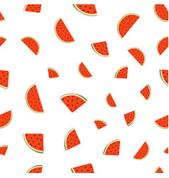 seamless pattern with watermelonjuicy vegetarian vector image