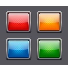Set of realistic color glossy buttons vector image vector image