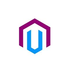 Shape construction business logo vector