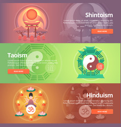 shintoism japanese religion taoism hinduism vector image