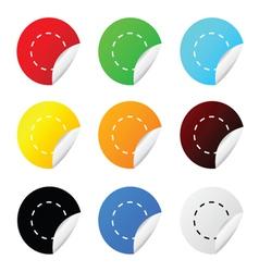 sticker circle color vector image vector image
