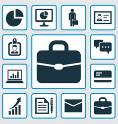Trade icons set collection of increasing id vector