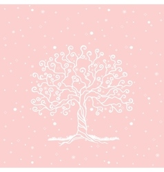 Tree on a gentle background vector image vector image
