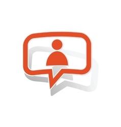 User message sticker orange vector