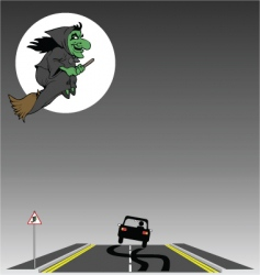 Witch crossing vector