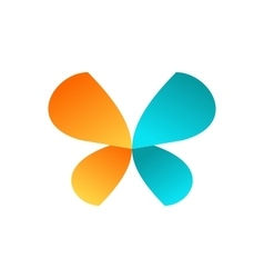 butterfly logo icon symbol design vector image