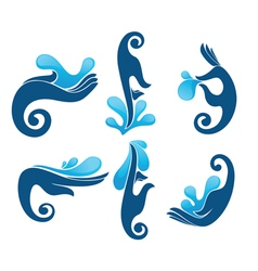 fresh water and clean hands vector image