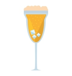 Cocktail mimosa drink celebration vector