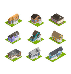 town houses set vector image