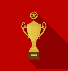 Trophy icon in flate style isolated on white vector