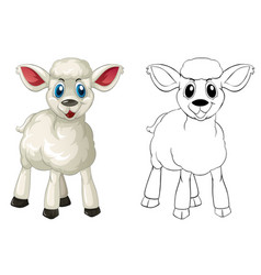 Doodle animal for little lamb vector