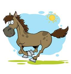 Cartoon horse running vector