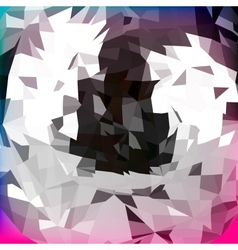 Abstract polygonal background for design vector