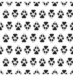 Traces dogs seamless pattern vector