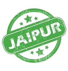 Jaipur green stamp vector