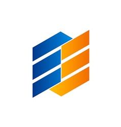 shape design element abstract logo vector image